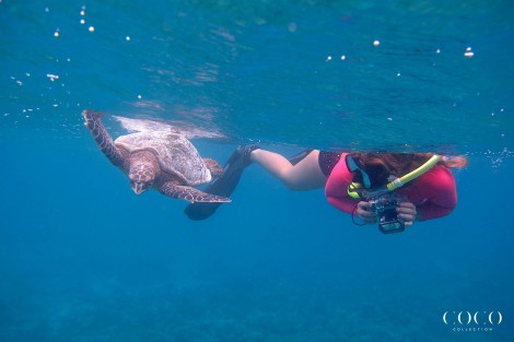 "Jade and HK 2015 ""Edibo"" having a turtely good time at the Dhuni Kolhu House Reef"